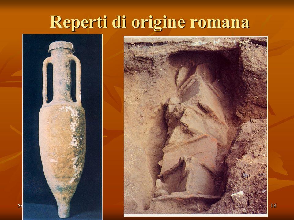 Reperti di origine romana