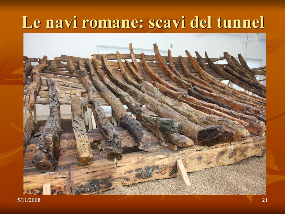 Le navi romane: scavi del tunnel