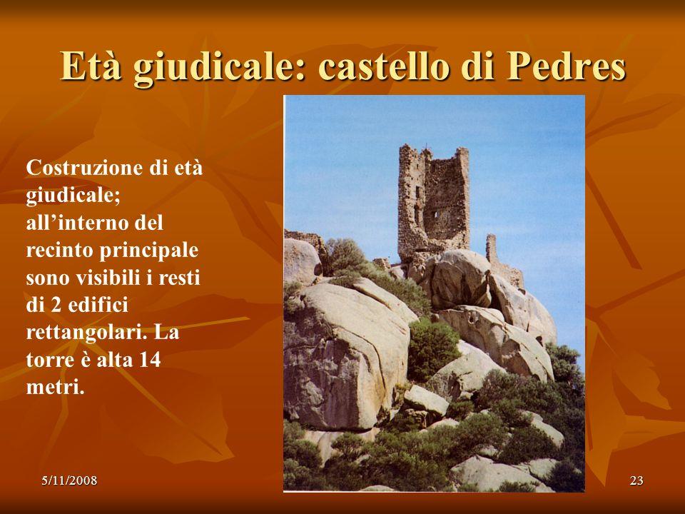 Età giudicale: castello di Pedres