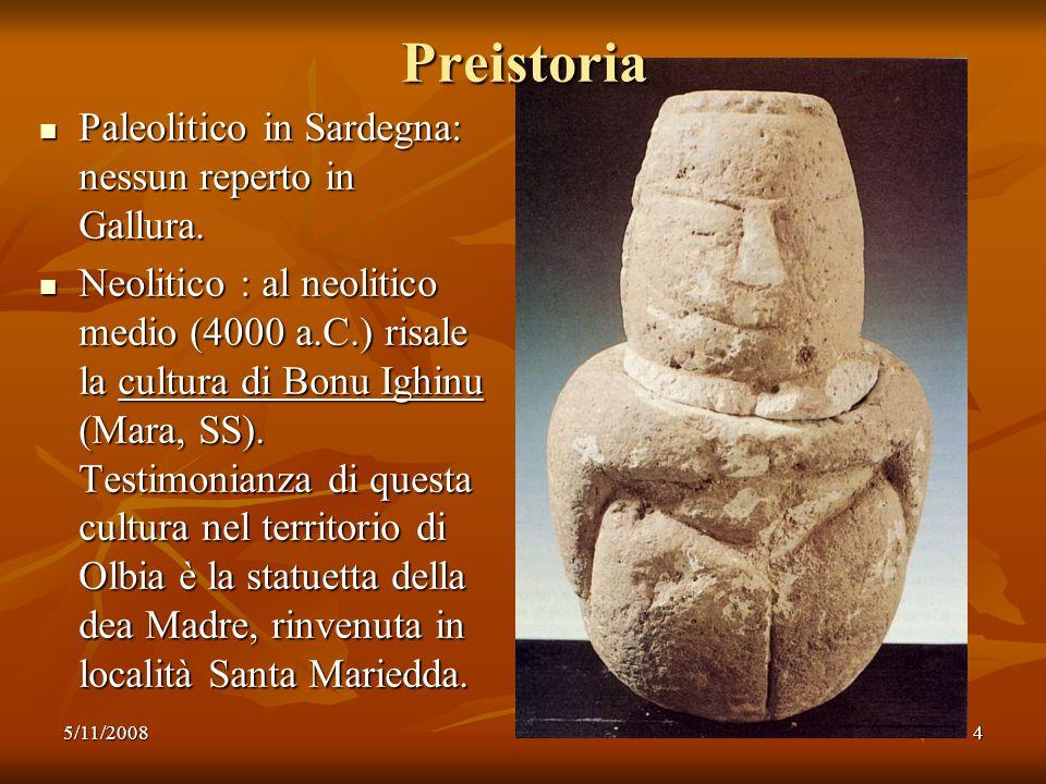 Preistoria Paleolitico in Sardegna: nessun reperto in Gallura.