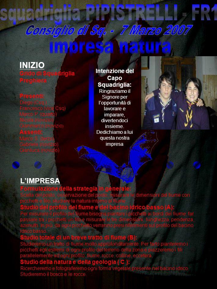 squadriglia PIPISTRELLI - FR1 Intenzione del Capo Squadriglia: