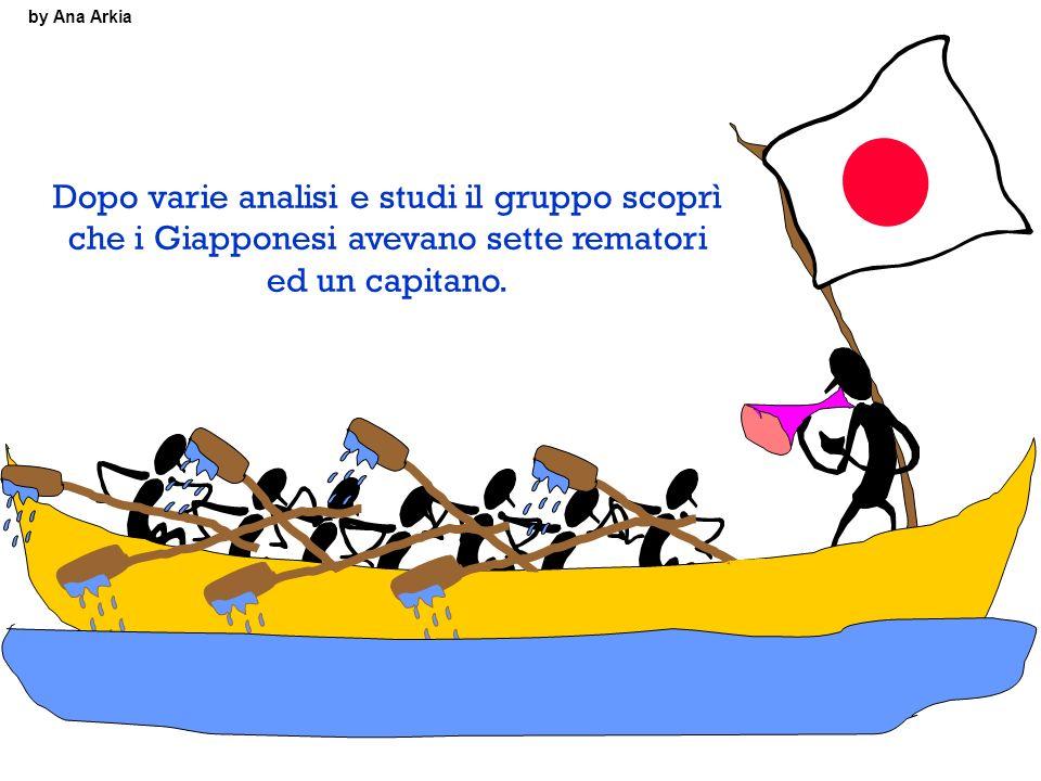 by Ana Arkia Dopo varie analisi e studi il gruppo scoprì che i Giapponesi avevano sette rematori ed un capitano.