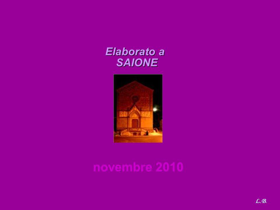 Elaborato a SAIONE novembre 2010 L.B. 21