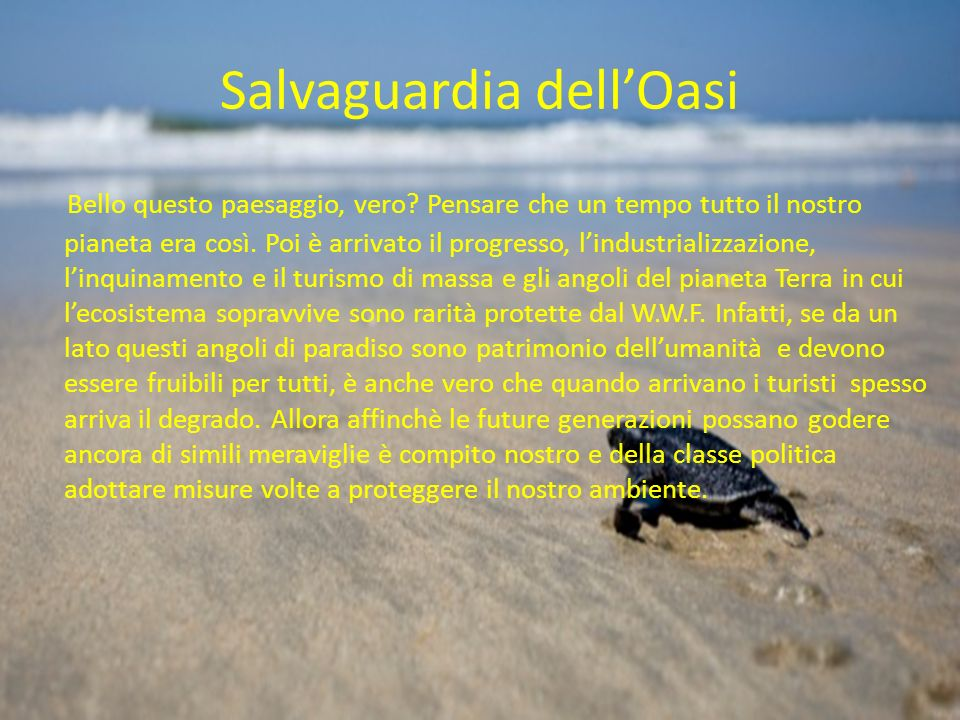 Salvaguardia dell'Oasi