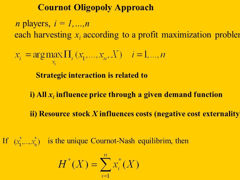 Cournot Oligopoly Approach