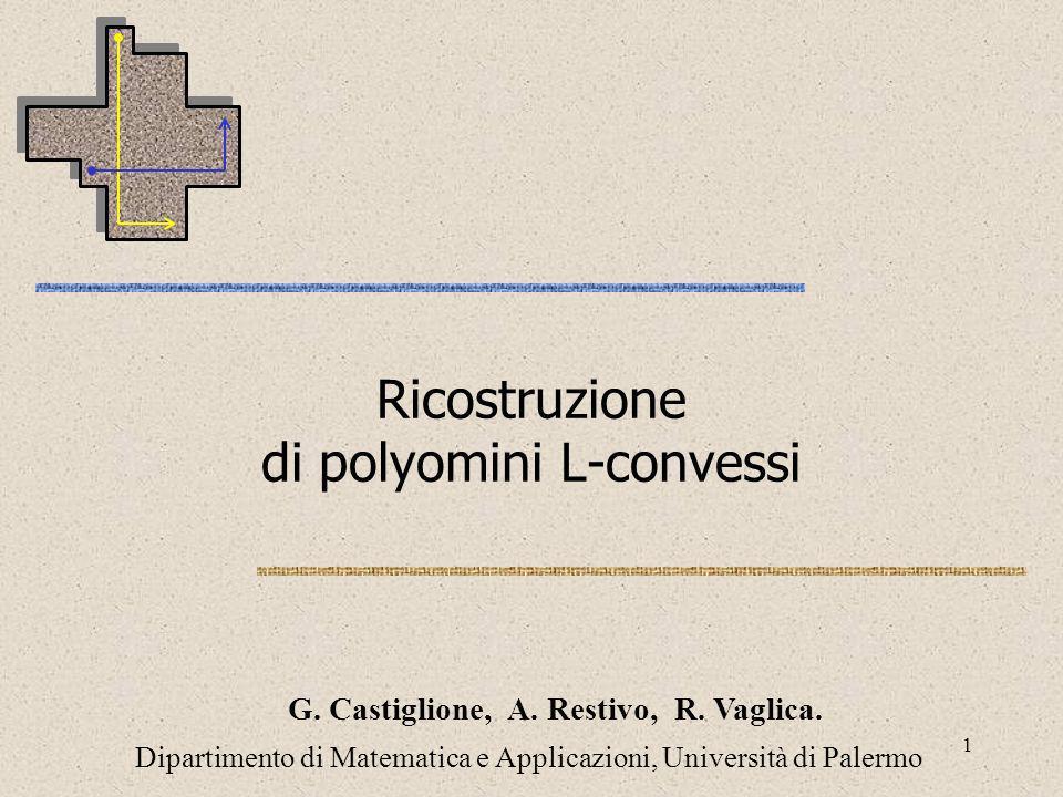 Ricostruzione di polyomini L-convessi
