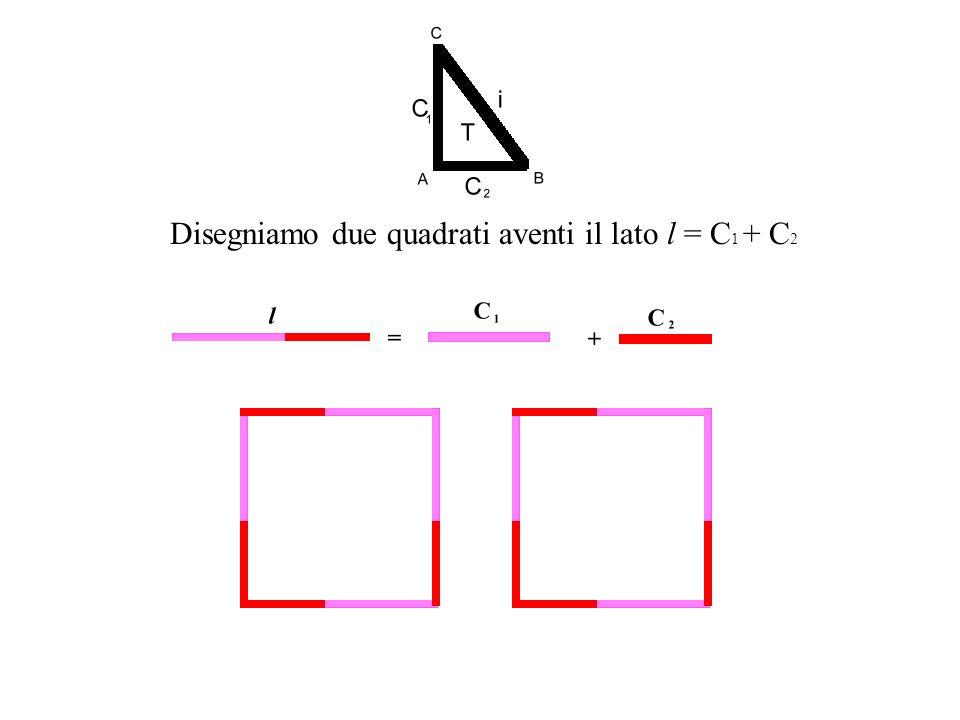 Disegniamo due quadrati aventi il lato l = C1 + C2