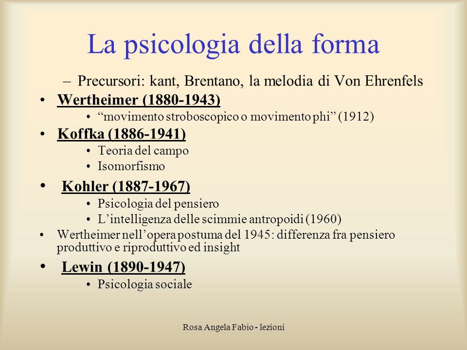 La psicologia della forma