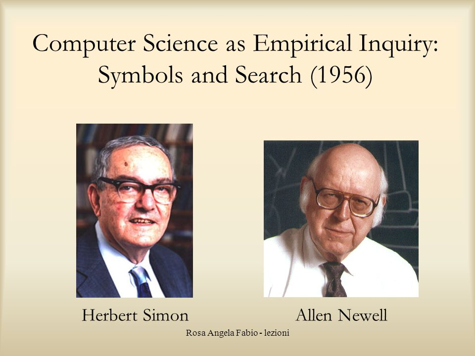 Computer Science as Empirical Inquiry: Symbols and Search (1956)