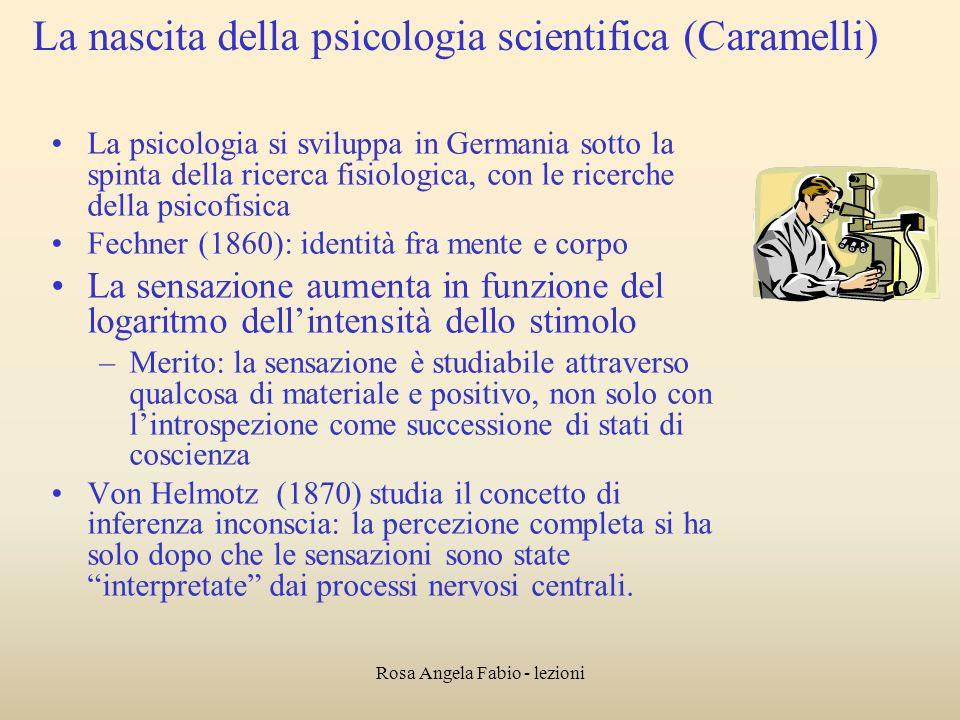 La nascita della psicologia scientifica (Caramelli)