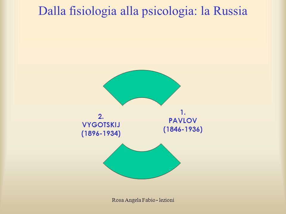 Dalla fisiologia alla psicologia: la Russia