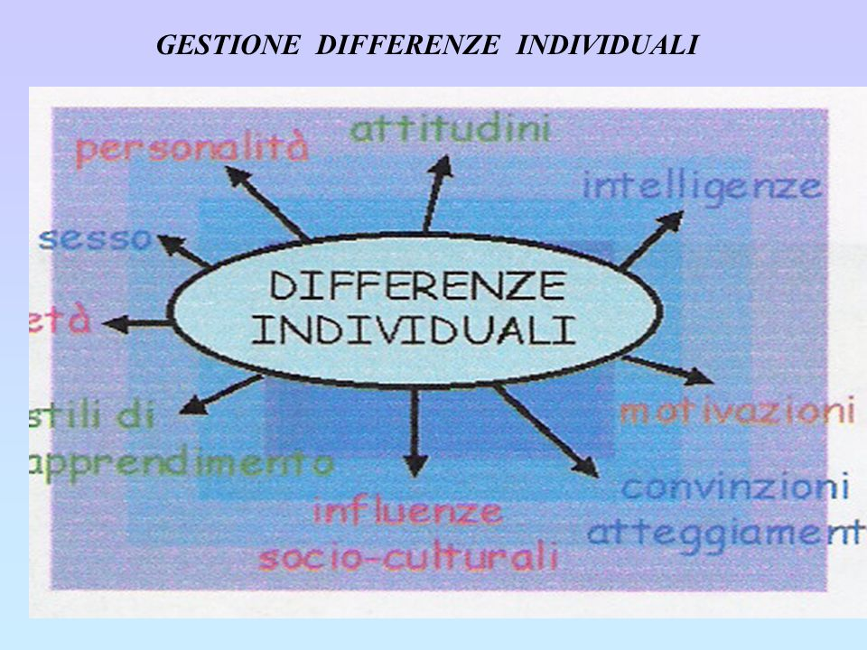 GESTIONE DIFFERENZE INDIVIDUALI