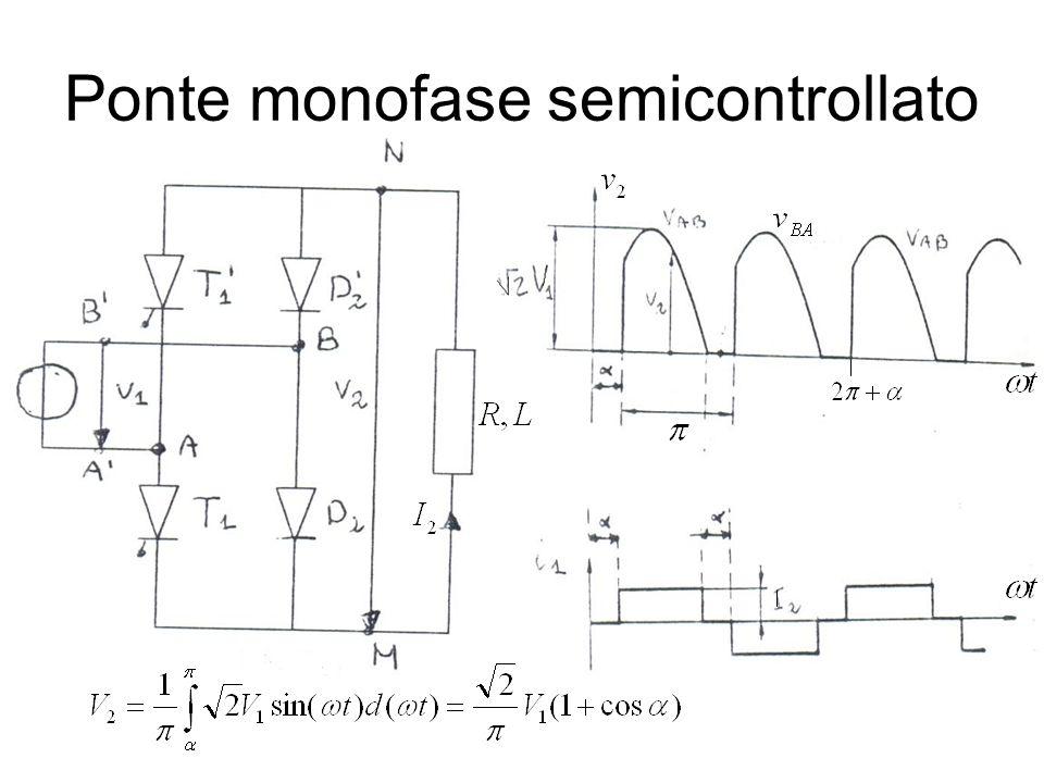 Ponte monofase semicontrollato