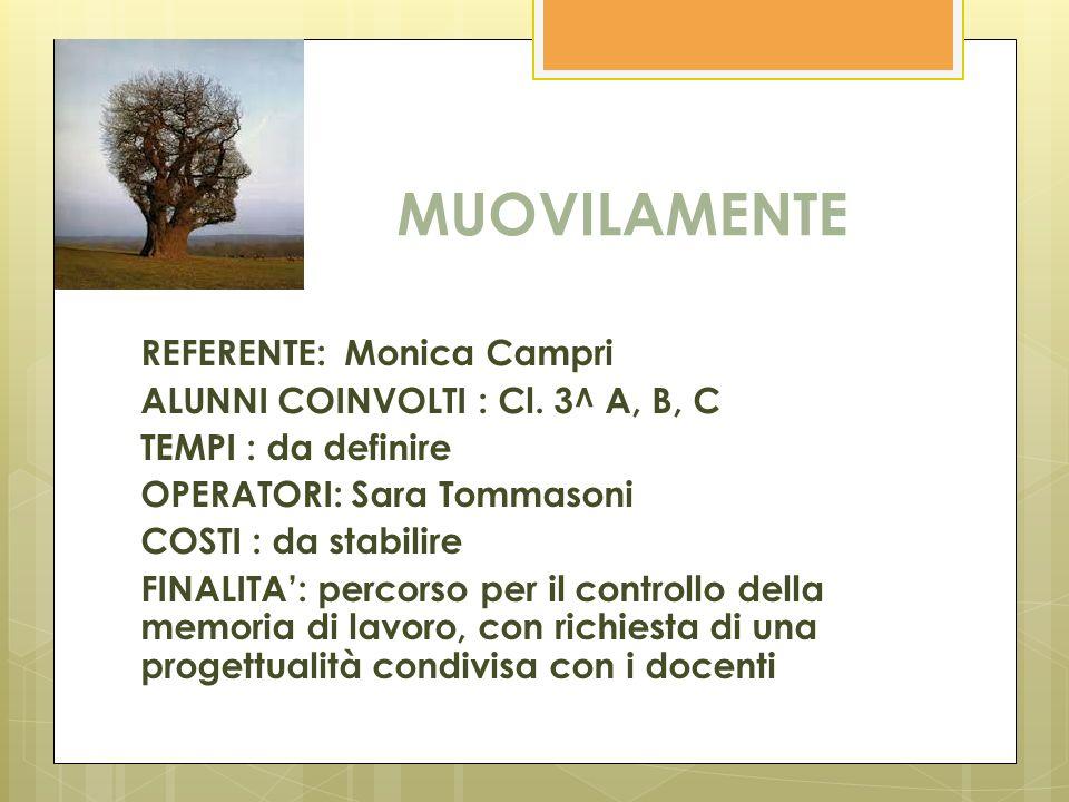 MUOVILAMENTE REFERENTE: Monica Campri