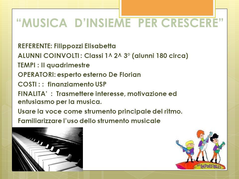 MUSICA D'INSIEME PER CRESCERE