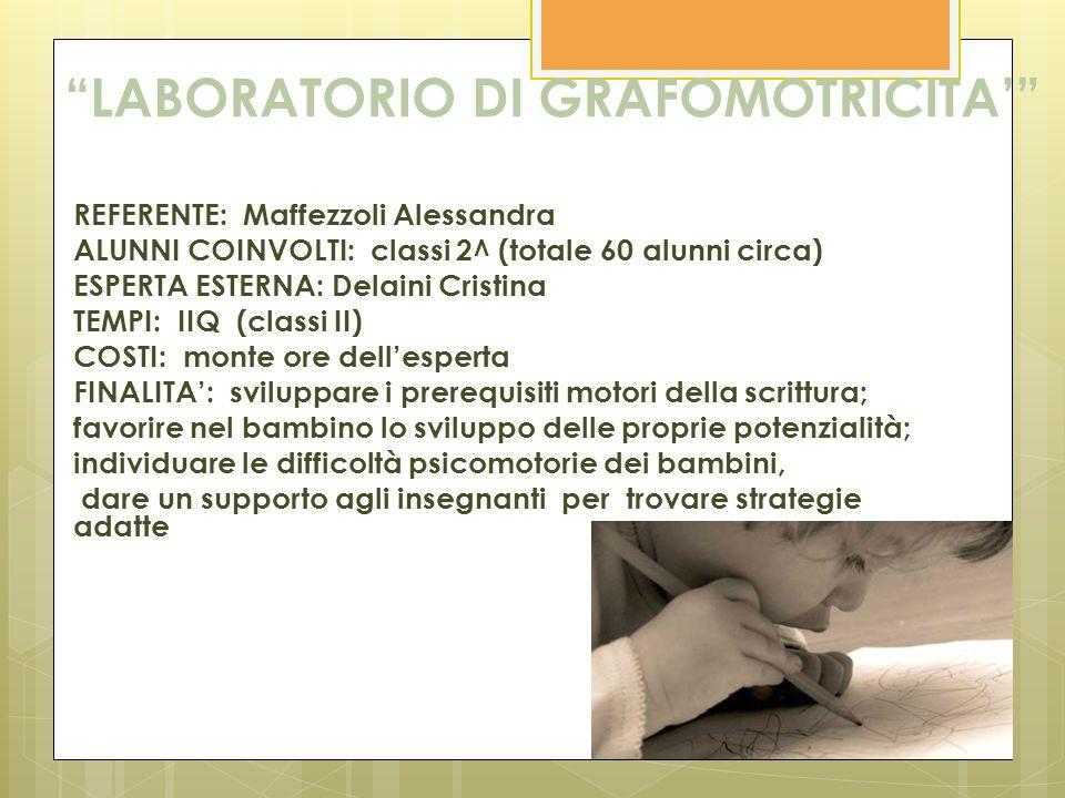 LABORATORIO DI GRAFOMOTRICITA'
