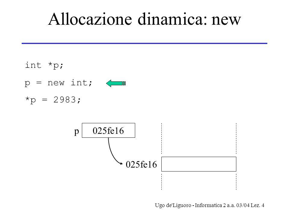 Allocazione dinamica: new