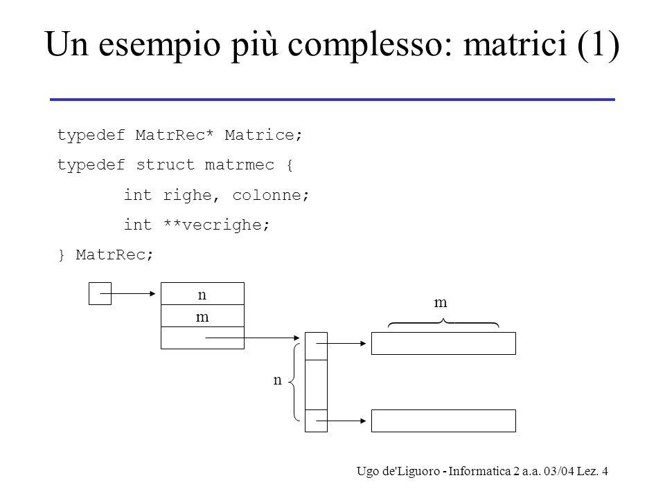 Un esempio più complesso: matrici (1)
