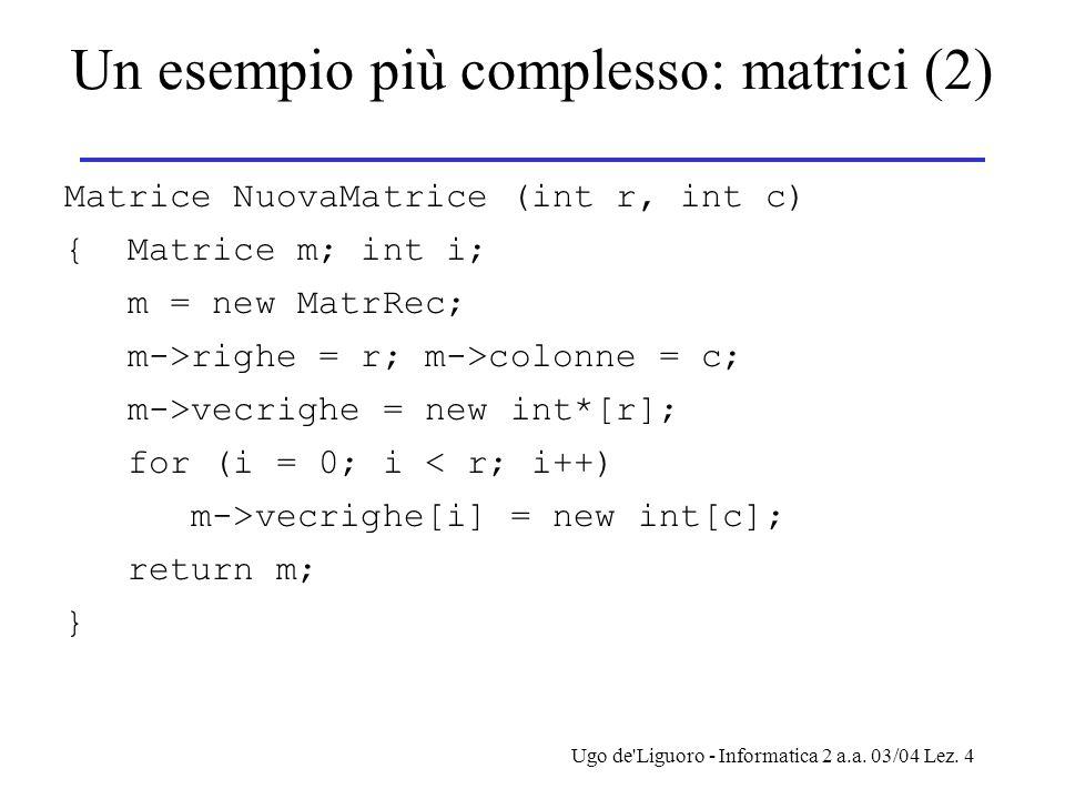 Un esempio più complesso: matrici (2)