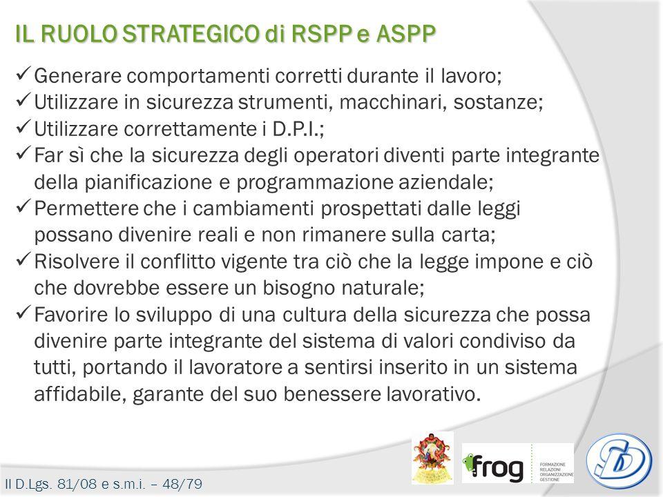 IL RUOLO STRATEGICO di RSPP e ASPP