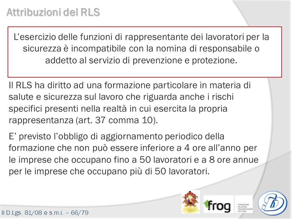 Attribuzioni del RLS
