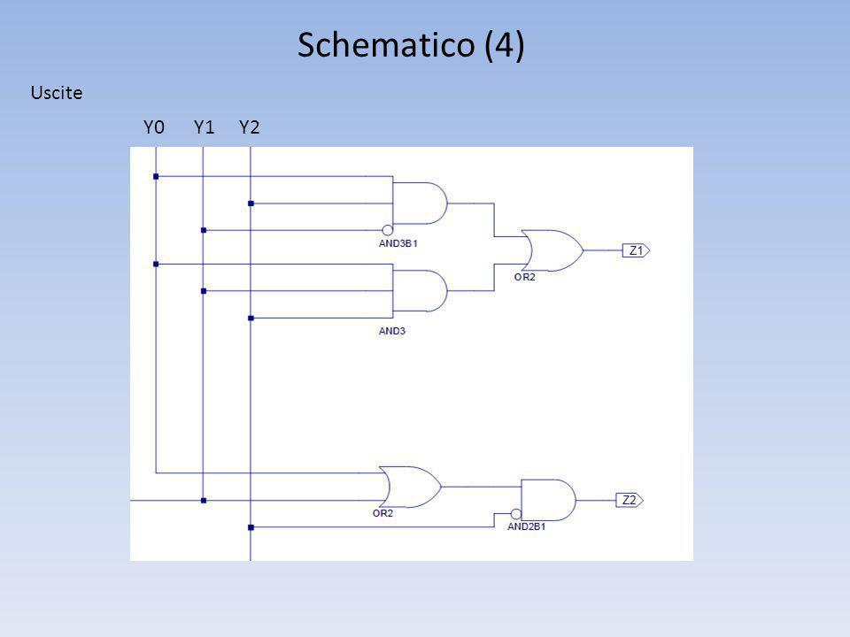 Schematico (4) Uscite Y0 Y1 Y2