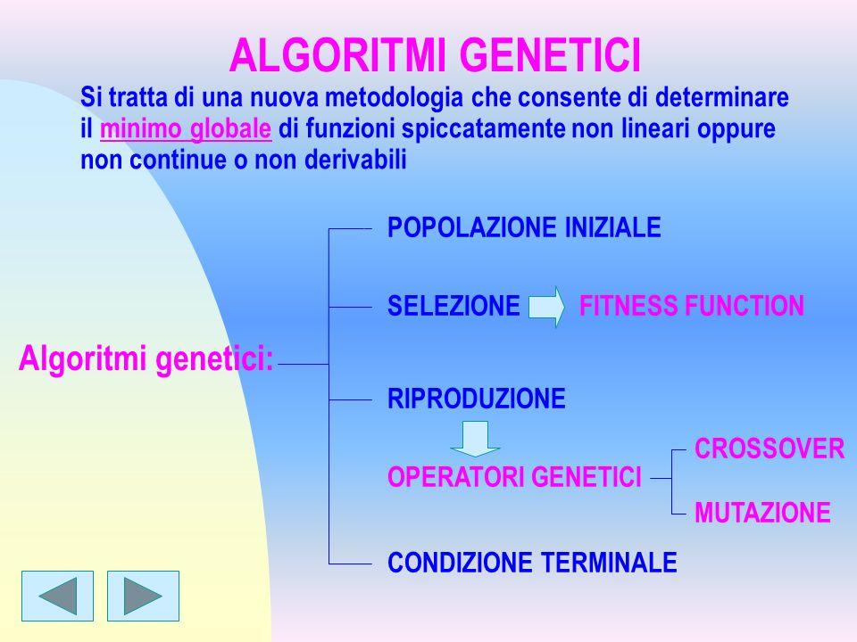 ALGORITMI GENETICI Algoritmi genetici: