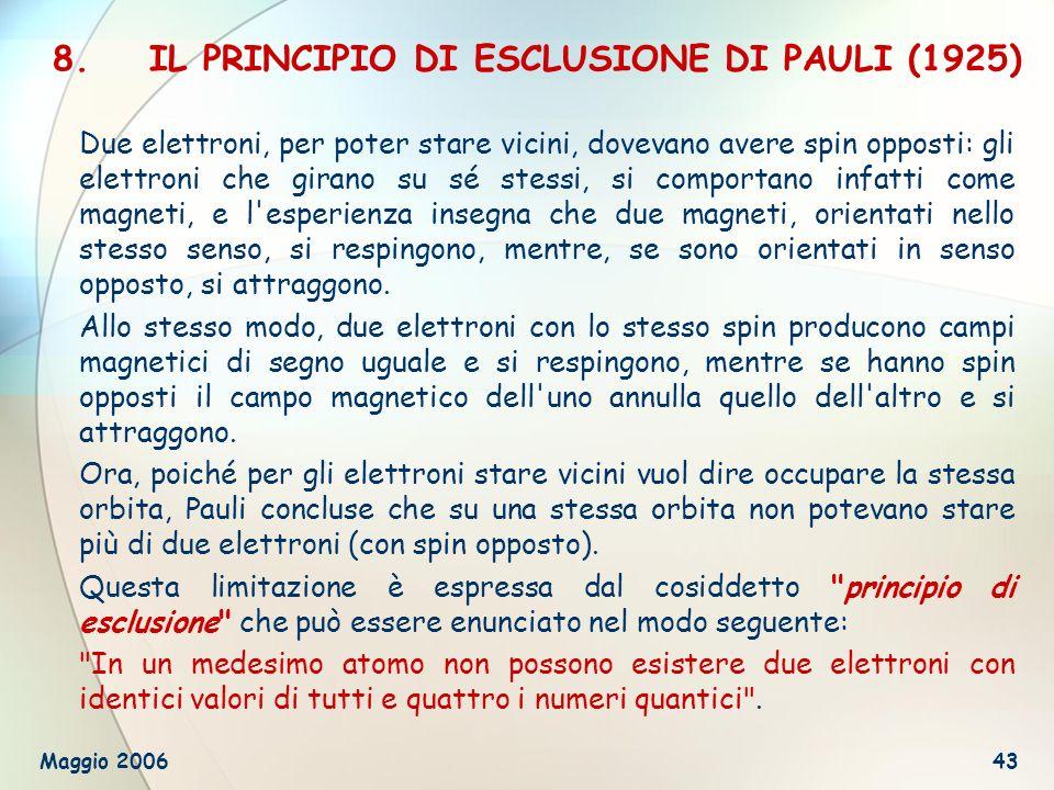 IL PRINCIPIO DI ESCLUSIONE DI PAULI (1925)