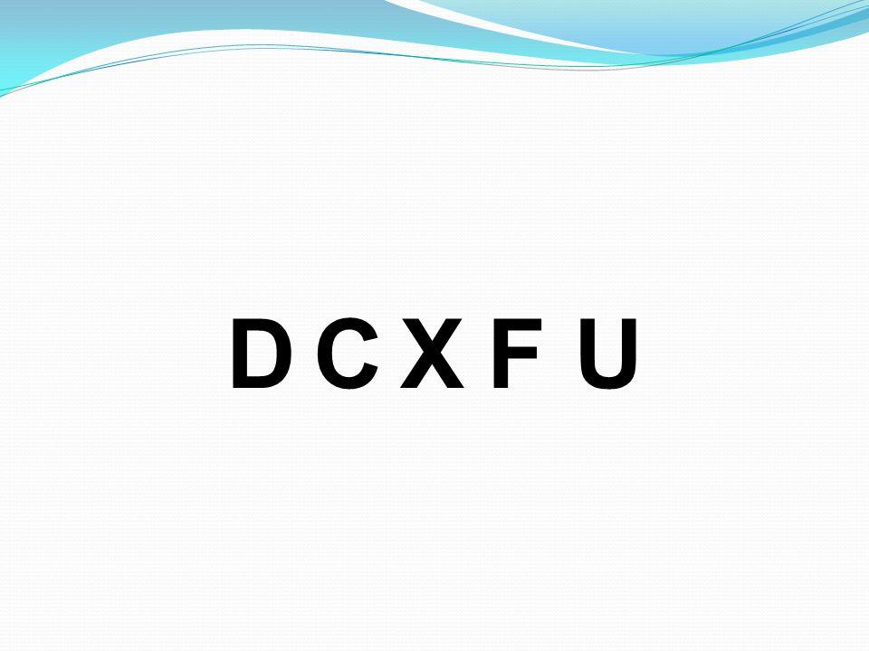 D C X F U