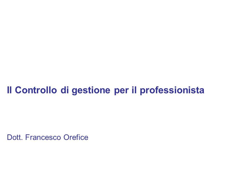 Il Controllo di gestione per il professionista