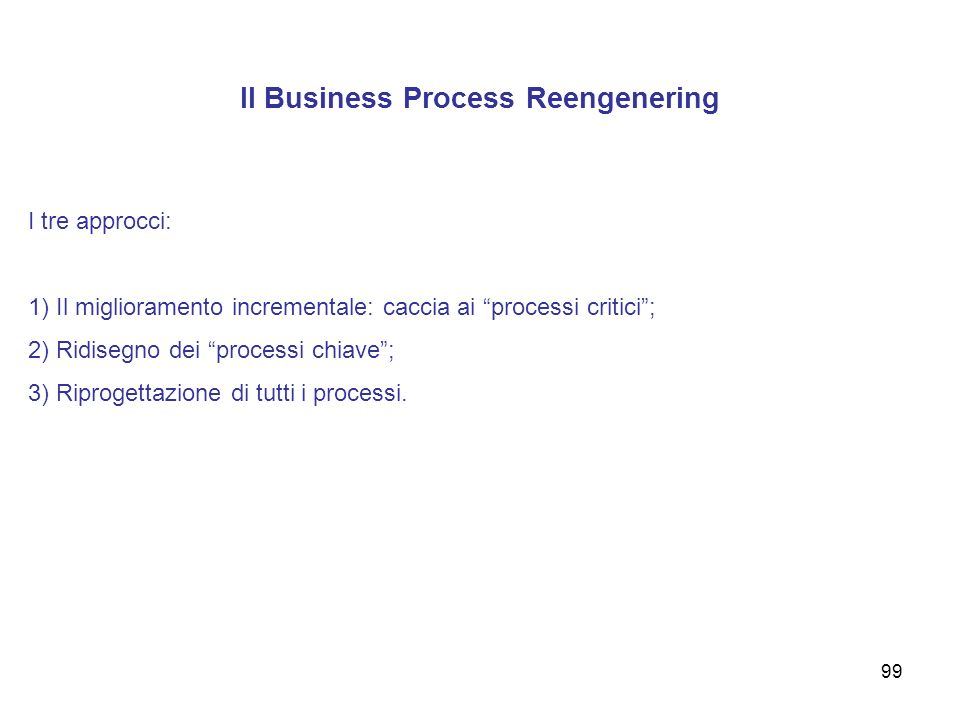 Il Business Process Reengenering