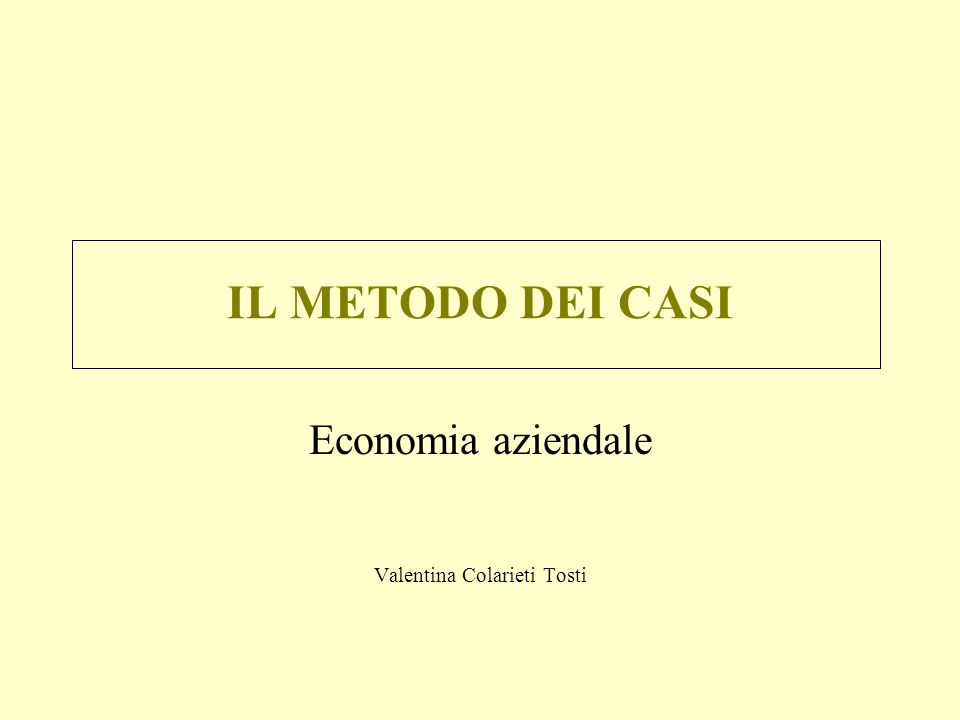 Economia aziendale Valentina Colarieti Tosti