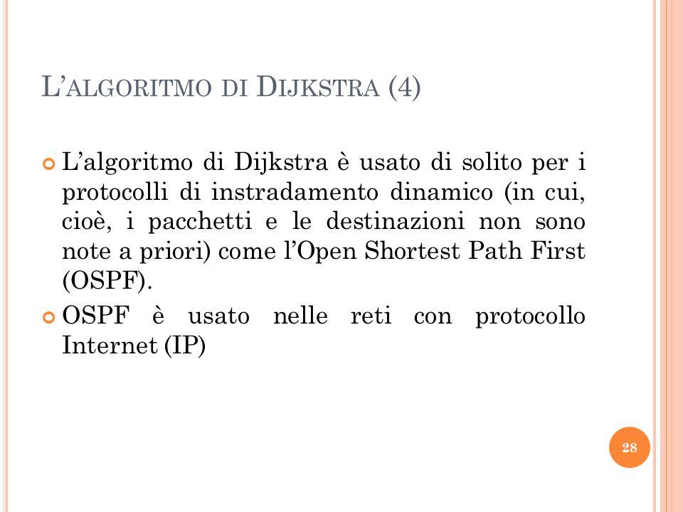 L'algoritmo di Dijkstra (4)