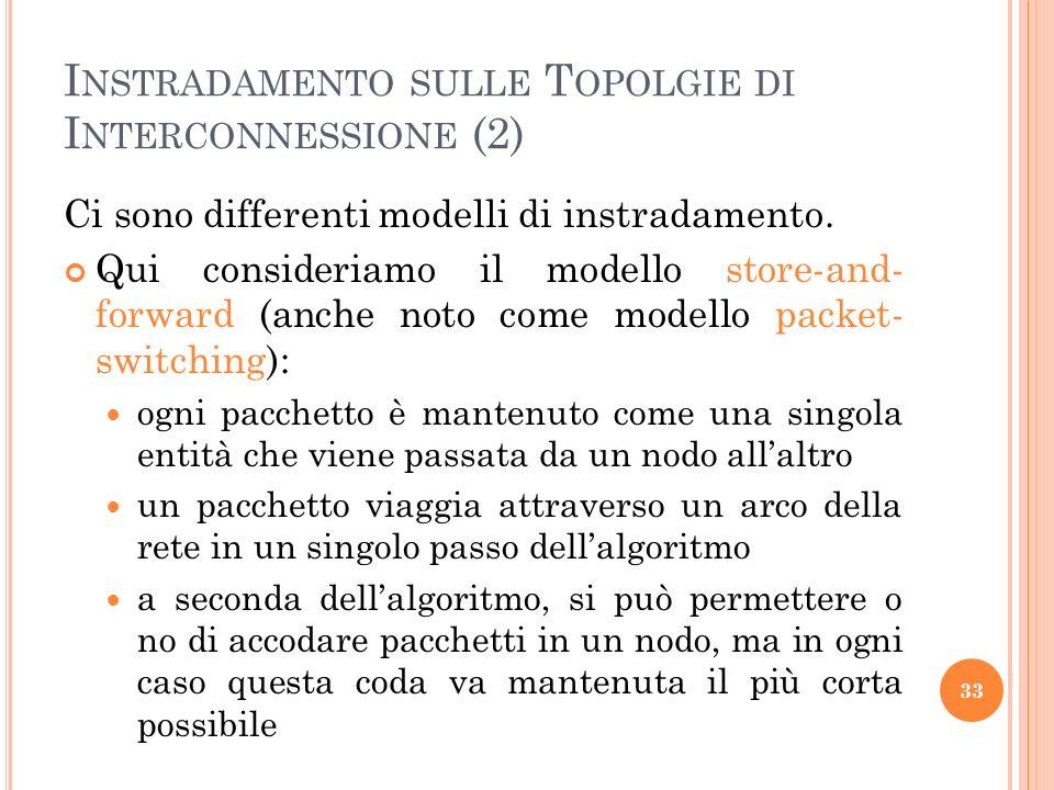 Instradamento sulle Topolgie di Interconnessione (2)