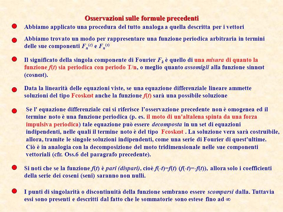Osservazioni sulle formule precedenti