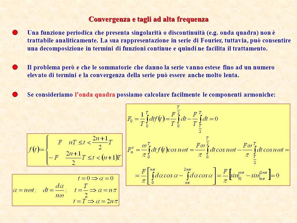 Convergenza e tagli ad alta frequenza