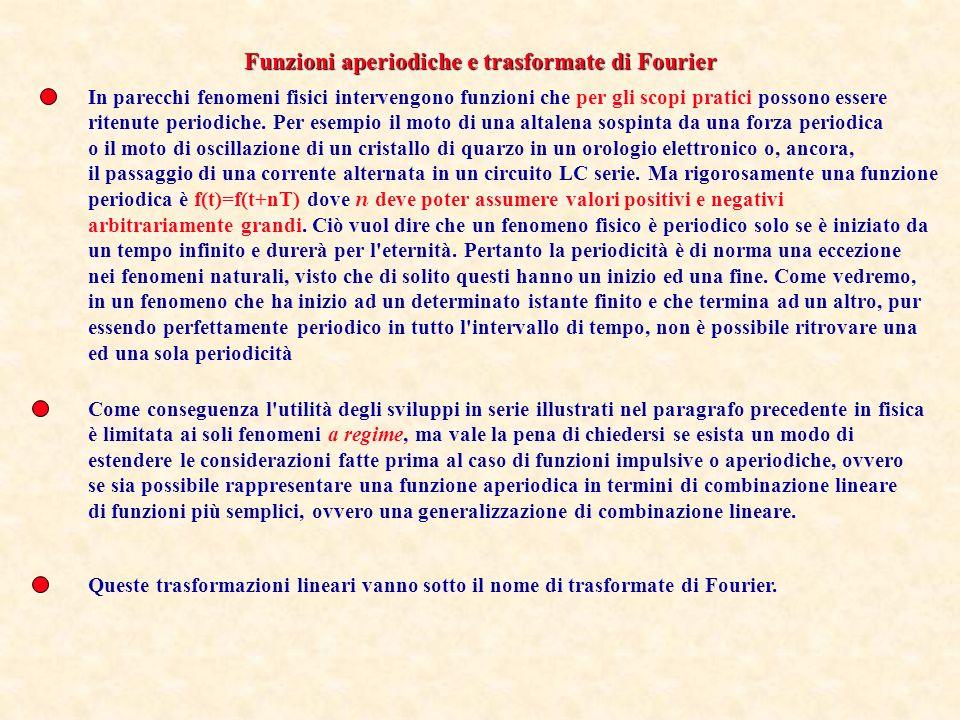 Funzioni aperiodiche e trasformate di Fourier