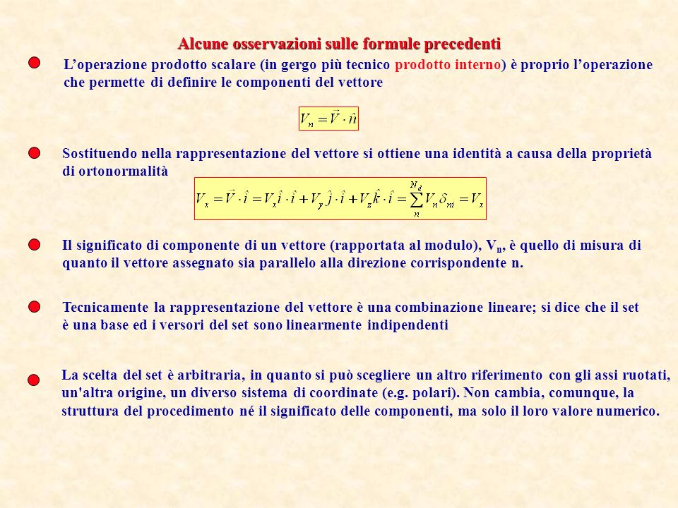 Alcune osservazioni sulle formule precedenti