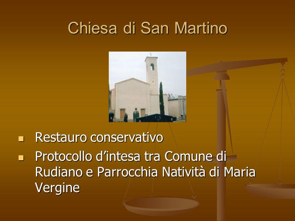 Chiesa di San Martino Restauro conservativo