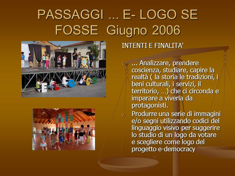 PASSAGGI ... E- LOGO SE FOSSE Giugno 2006