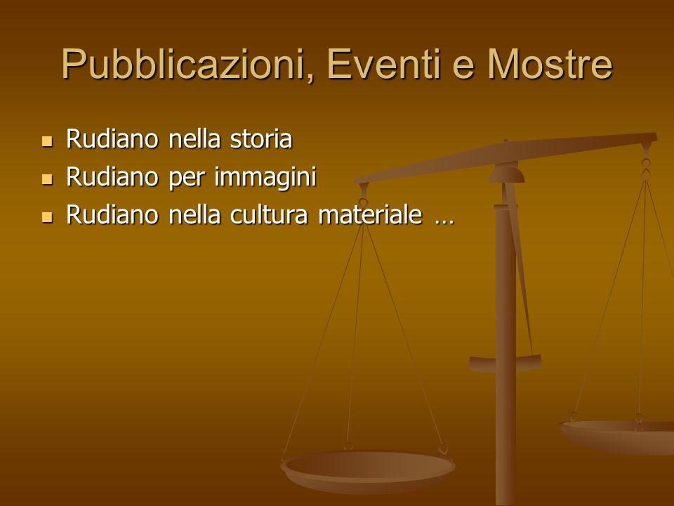 Pubblicazioni, Eventi e Mostre