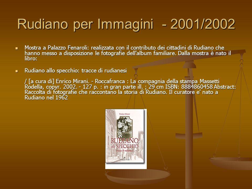 Rudiano per Immagini - 2001/2002