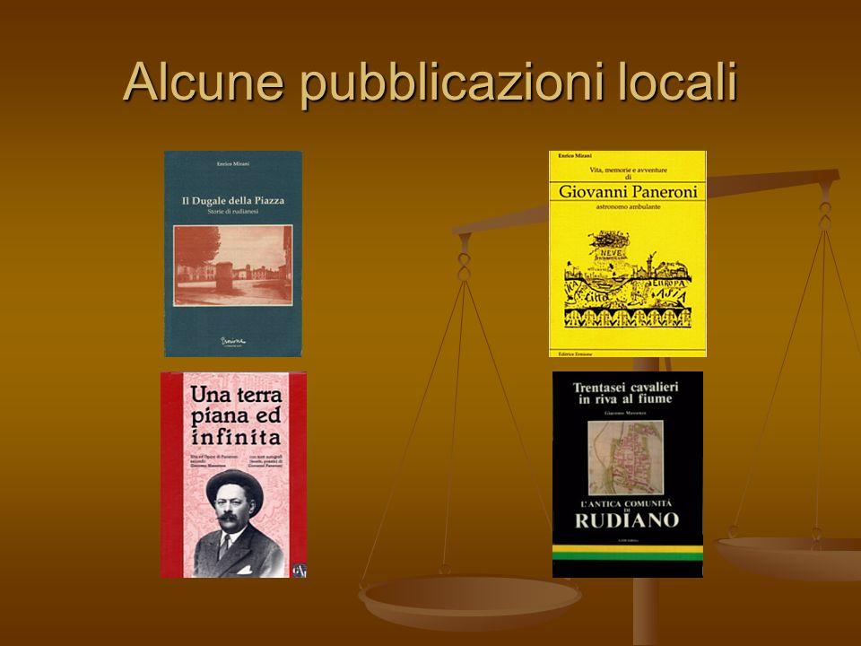 Alcune pubblicazioni locali