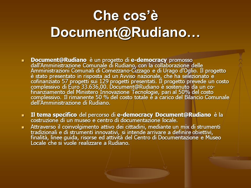Che cos'è Document@Rudiano…