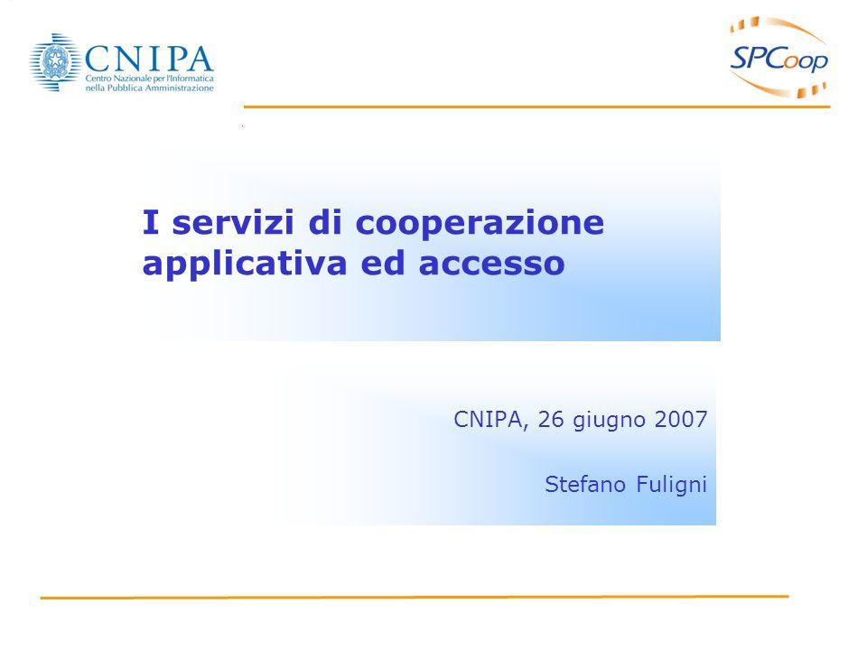 I servizi di cooperazione applicativa ed accesso