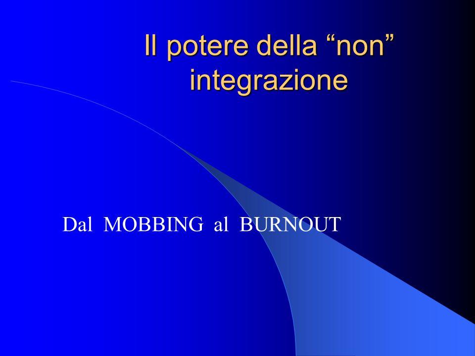 Il potere della non integrazione