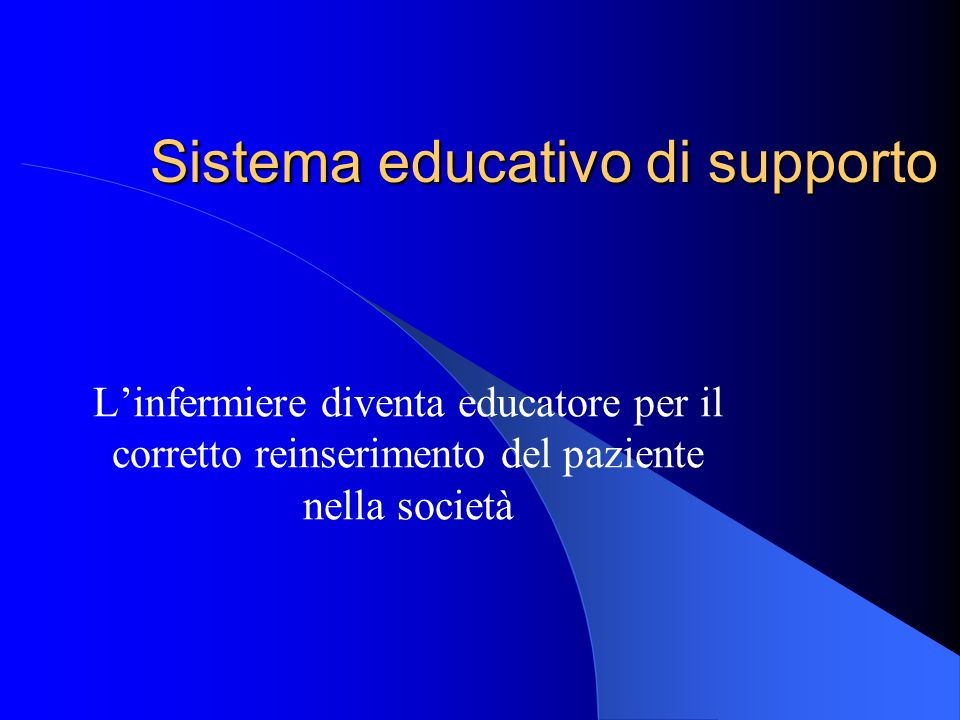 Sistema educativo di supporto