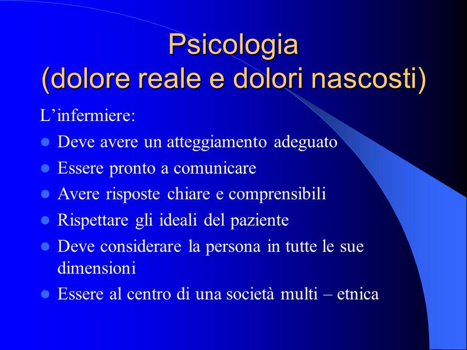 Psicologia (dolore reale e dolori nascosti)
