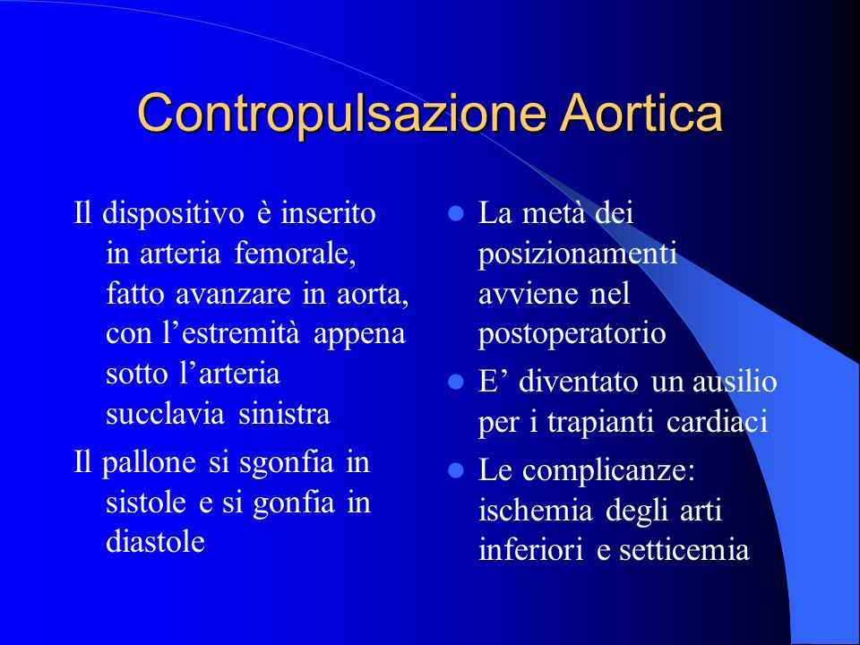 Contropulsazione Aortica