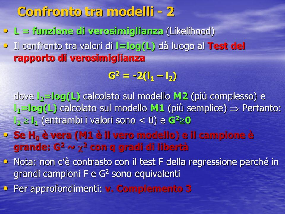 Confronto tra modelli - 2